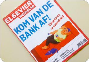 Omslag voor Elsevier weekblad door Rene van Asselt